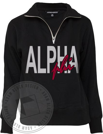 Alpha Phi Limited Edition ABD Half Zip-gallery-Adam Block Design