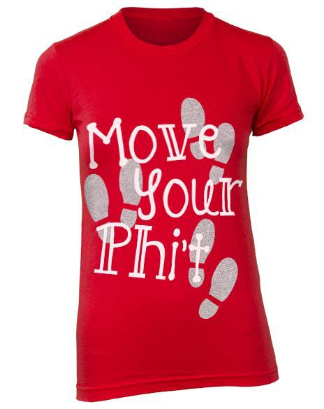 Alpha Phi Move Your Phit Shirt-Adam Block Design