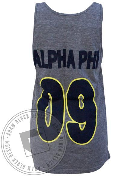 Alpha Phi Mr. Greek Tank-Adam Block Design