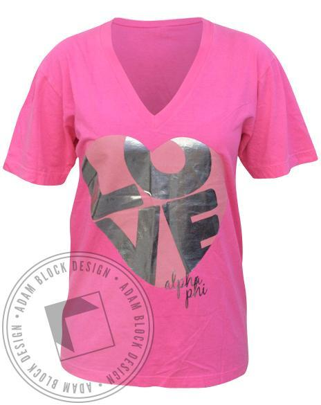 Alpha Phi Mr. Greek V-Neck-gallery-Adam Block Design