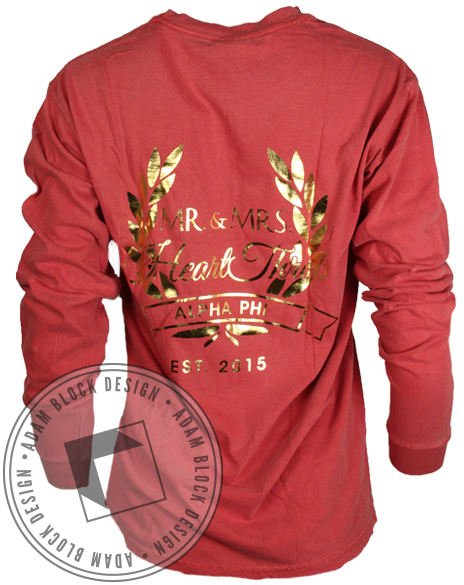 Alpha Phi Mr Heart Throb Long Sleeve-Adam Block Design