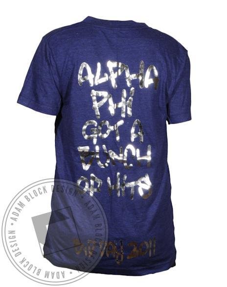 Alpha Phi New Bids on the Block V-Neck-gallery-Adam Block Design