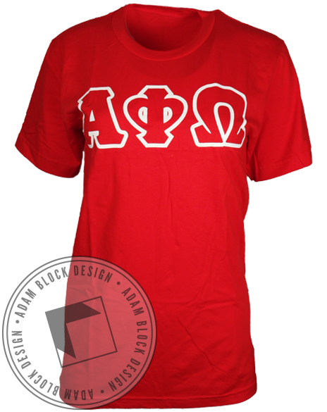 Alpha Phi Omega Blood Drive Tee Shirt-Adam Block Design