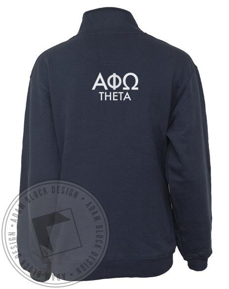 Alpha Phi Omega Crest Half-zip Jacket-gallery-Adam Block Design