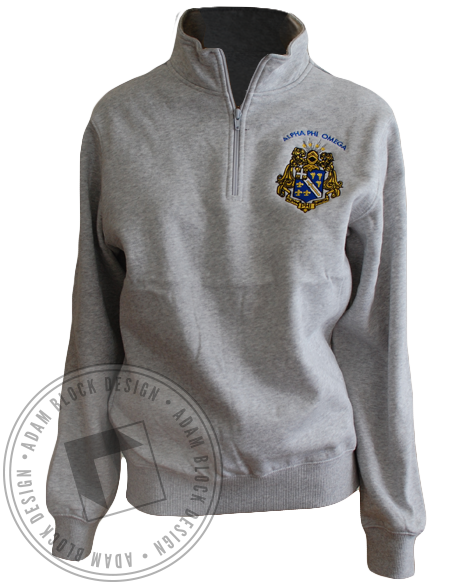 Alpha Phi Omega Crest Pullover Jacket-gallery-Adam Block Design