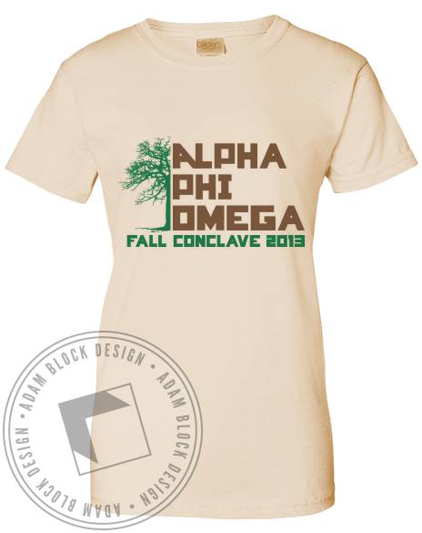 Alpha Phi Omega Fall Conclave Tee Shirt-Adam Block Design