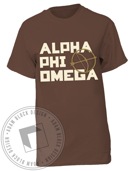 Alpha Phi Omega Game Maker Tee Shirt-Adam Block Design