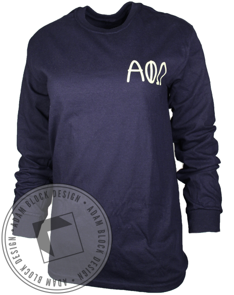 Alpha Phi Omega Loyalty Long Sleeve-Adam Block Design