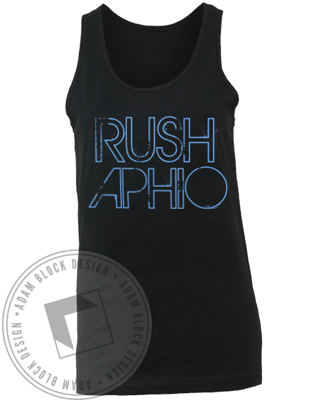 Alpha Phi Omega Rush Tank Top-Adam Block Design