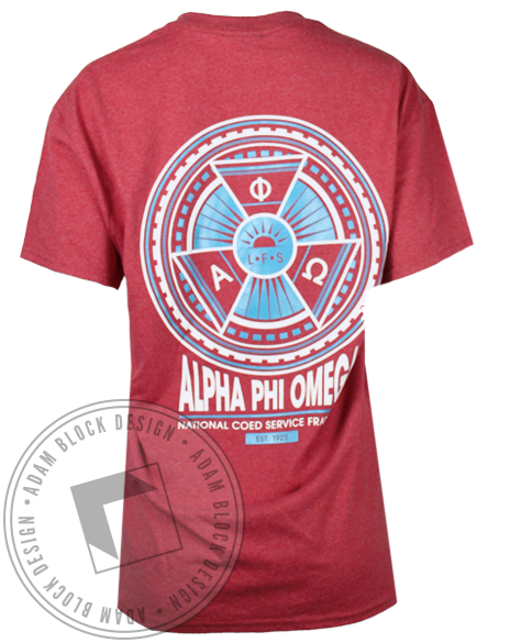Alpha Phi Omega Service Pin Tshirt-gallery-Adam Block Design