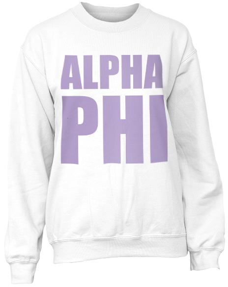 Alpha Phi Pastel Crewneck Sweatshirt-Adam Block Design