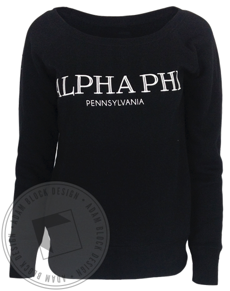 Alpha Phi Pennsylvania Sweatshirt-gallery-Adam Block Design