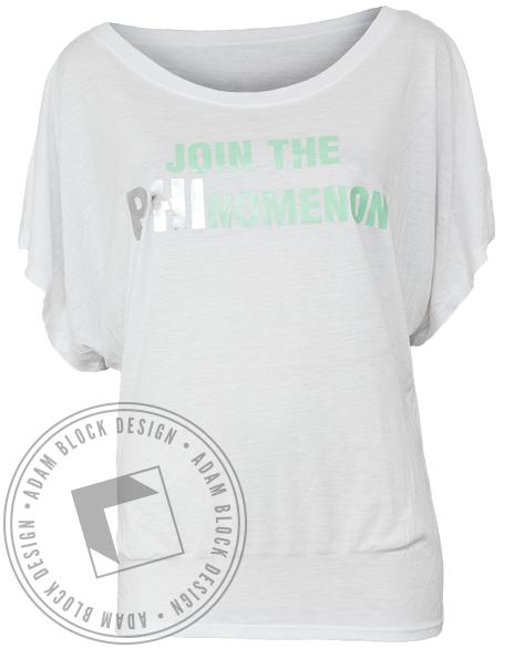Alpha Phi Phinomenon Flowy Tee-gallery-Adam Block Design