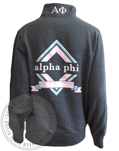 Alpha Phi Sweatshirt Pullover-gallery-Adam Block Design