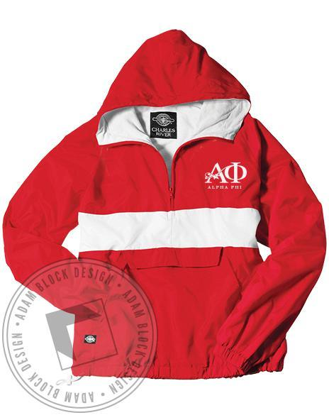 Alpha Phi Rain Jacket-Adam Block Design