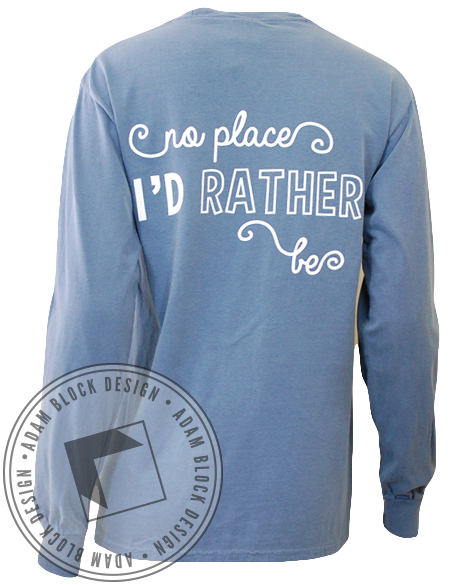 Alpha Phi Rather Be Longsleeve-Adam Block Design