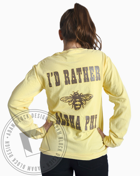 Alpha Phi Rather Bee Long Sleeve-Adam Block Design