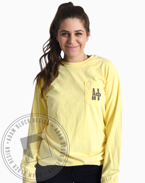 Alpha Phi Rather Bee Long Sleeve-gallery-Adam Block Design