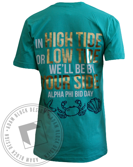 Alpha Phi Sail Bid Day Tee-gallery-Adam Block Design
