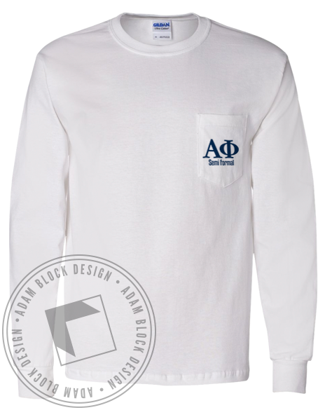 Alpha Phi Semi Formal Longsleeve-Adam Block Design