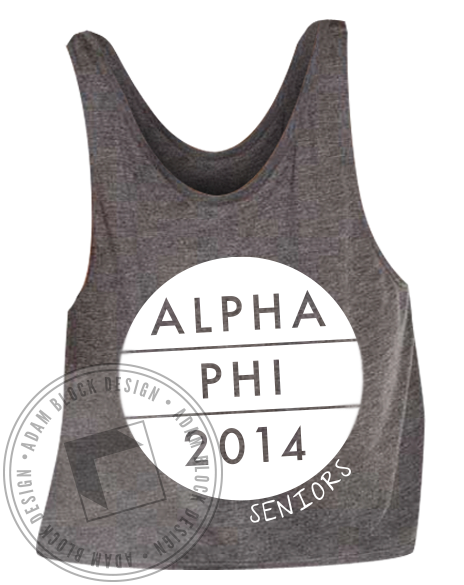 Alpha Phi Seniors-Adam Block Design