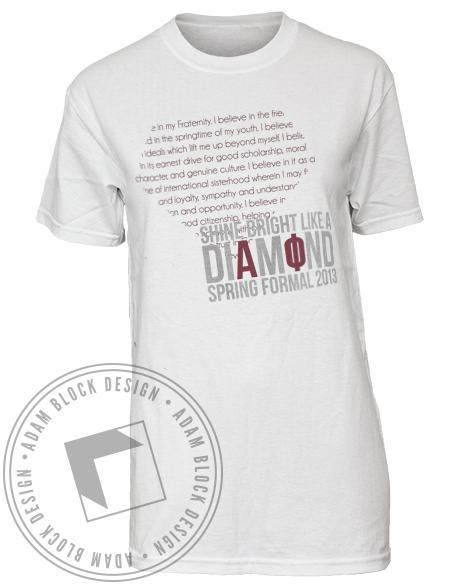 Alpha Phi Shine Bright Like a Diamond Tee-Adam Block Design