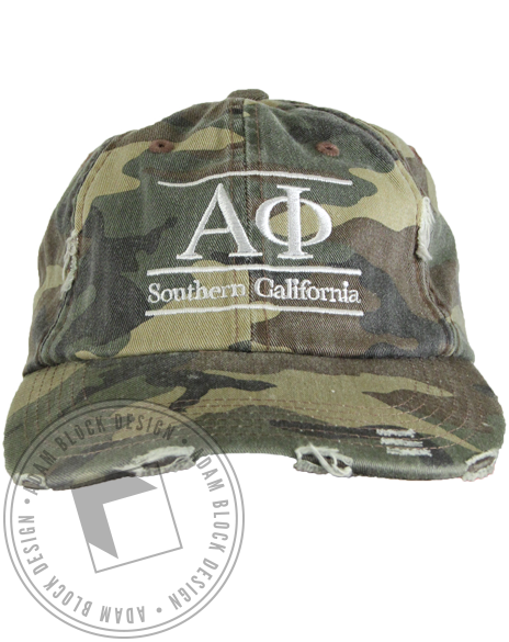 Alpha Phi Southern California Camo Hat-gallery-Adam Block Design