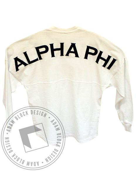 Alpha Phi Spirit Jersey-Adam Block Design