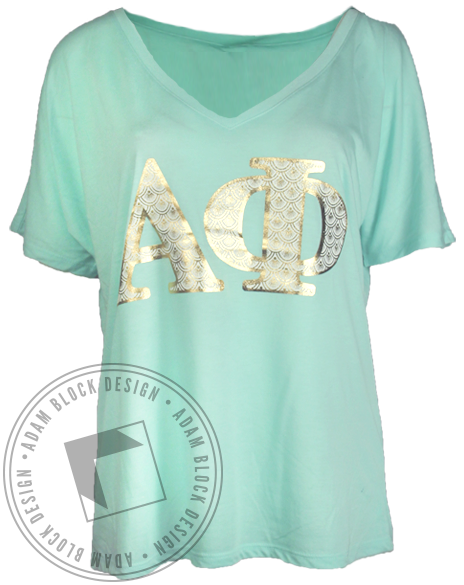 Alpha Phi Spring Recruitment Tee-Adam Block Design