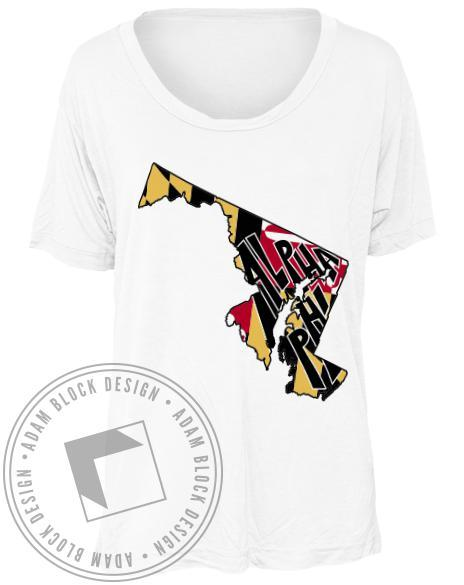 Alpha Phi State Of Mind Tee-gallery-Adam Block Design