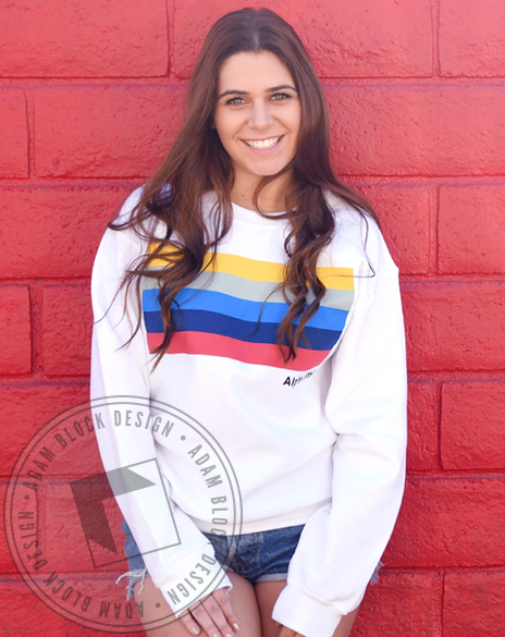 Alpha Phi Stripes Sweatshirt-Adam Block Design