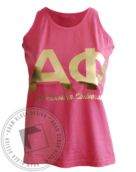 Alpha Phi Struck Gold Tank-Adam Block Design