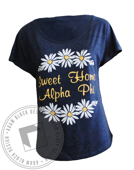 Alpha Phi Sweet Home Daisies Tank-Adam Block Design