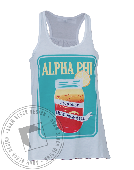 Alpha Phi Sweet Tea Tank-Adam Block Design