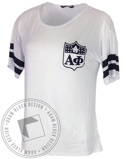 Alpha Phi The Phinest Striped Tee-Adam Block Design
