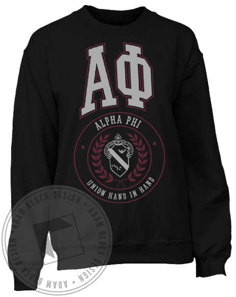 Alpha Phi Vintage Sweatshirt-Adam Block Design