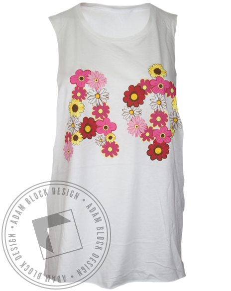 Alpha Phi We Know How to Pick 'Em Muscle Tank Top-Adam Block Design