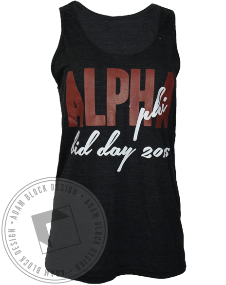 Alpha Phi Welcome to the Ivy League Tank Top-gallery-Adam Block Design