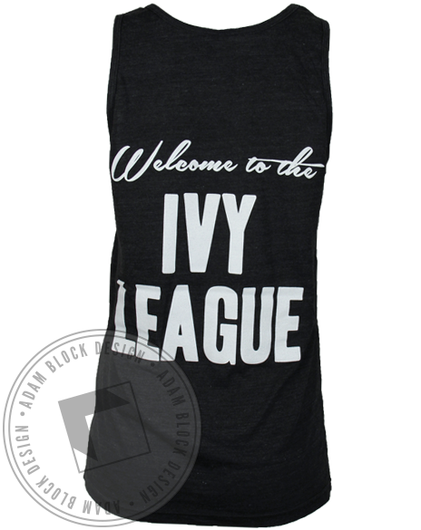 Alpha Phi Welcome to the Ivy League Tank Top-Adam Block Design