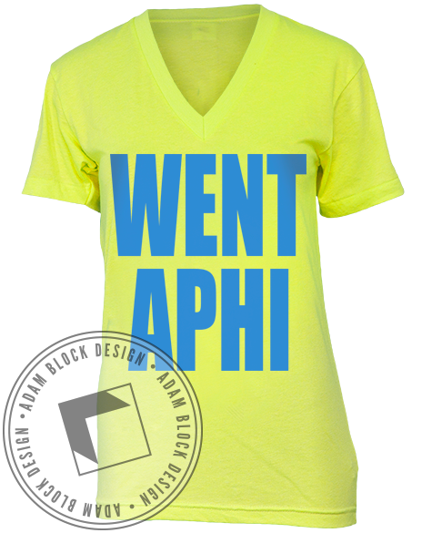 Alpha Phi Went V-Neck-Adam Block Design