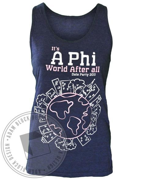 Alpha Phi World Tank-Adam Block Design
