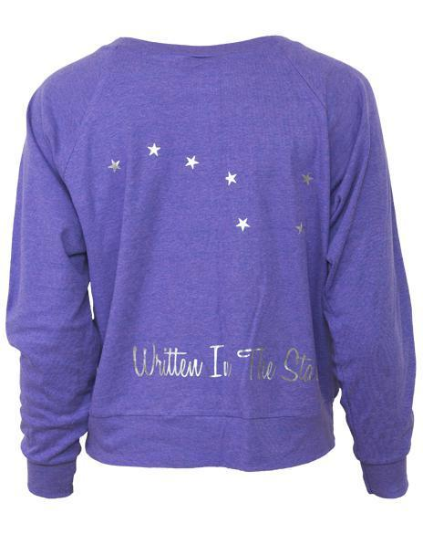 Alpha Phi Written In The Stars Raglan-Adam Block Design