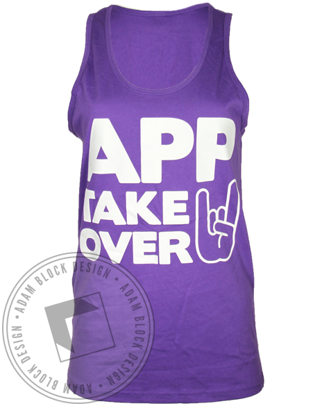 Alpha Pi Phi APP Take Over Tank Top-Adam Block Design