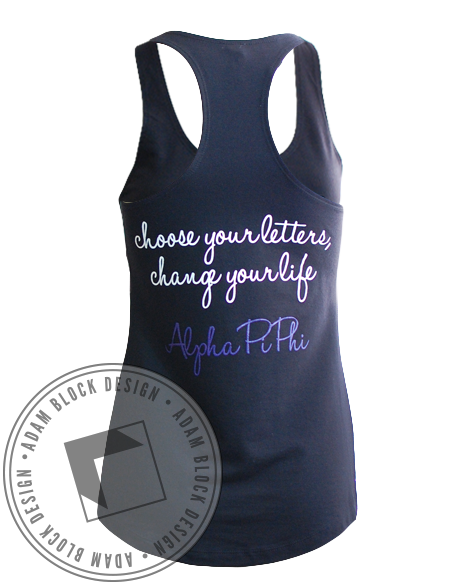 Alpha Pi Phi Chevron Tank-Adam Block Design