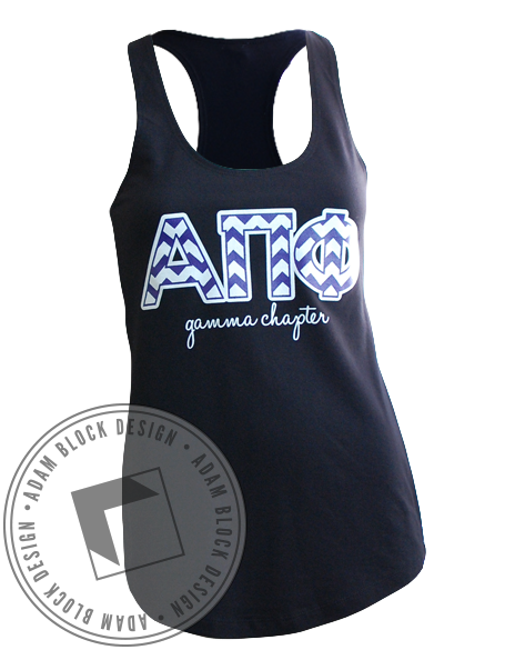 Alpha Pi Phi Chevron Tank-gallery-Adam Block Design