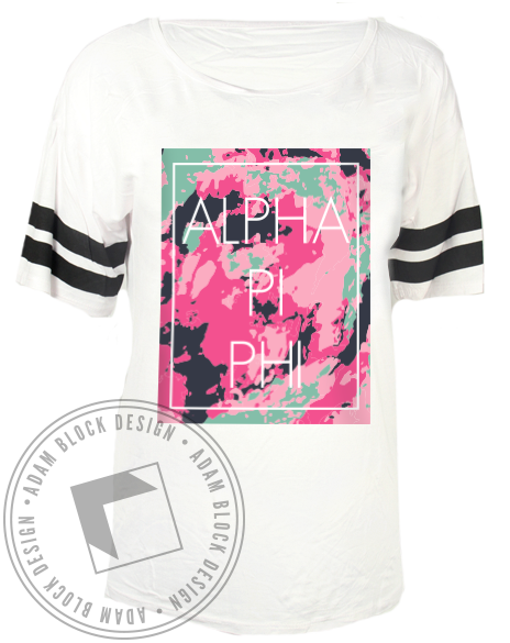 Alpha Pi Phi Colorful Tee-Adam Block Design