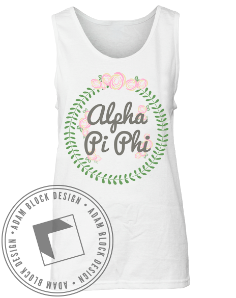 Alpha Pi Phi Floral Tank-gallery-Adam Block Design