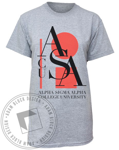 Alpha Sigma Alpha Abstract Tee-Adam Block Design