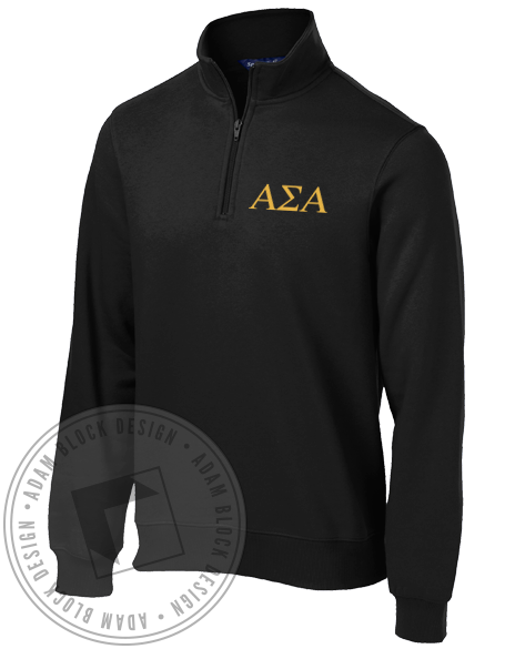 Alpha Sigma Alpha Aspire Seek Attain Halfzip-Adam Block Design