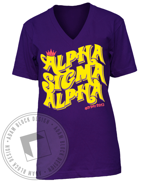 Alpha Sigma Alpha Bid Day Tee-Adam Block Design